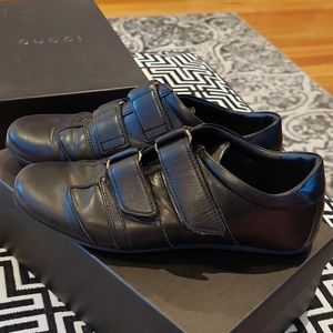 Gucci black leather sneakers size 36.5